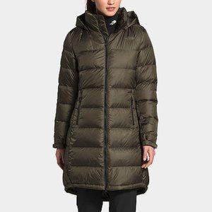 The North Face Metropolis III Parka Coat Long Puffer Jacket Green 550 down fill